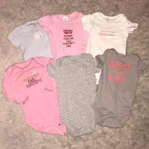 Other - LOT of size baby girl onesies